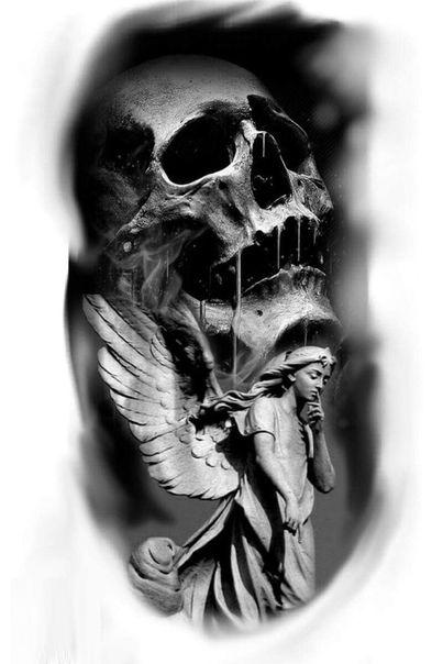 Эскизы татуировок | Картинки черепа, Реализм тату и ...