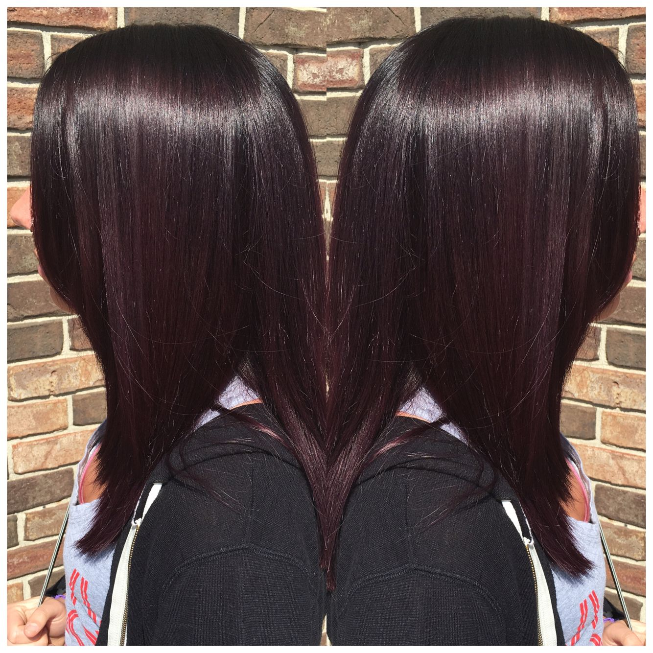 Dark Plum Hair