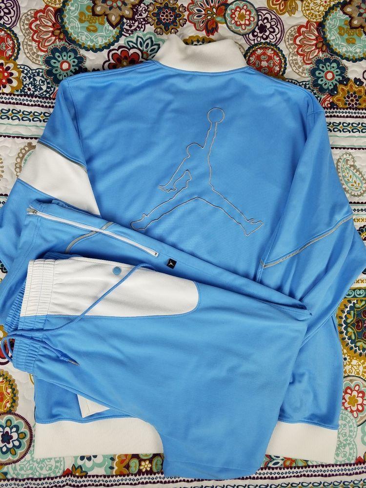 eeb6116d2a09 Michael Jordan Vintage Tracksuit Track Jacket   Pants Mens Sz XL Baby Blue  VTG  MichaelJordan
