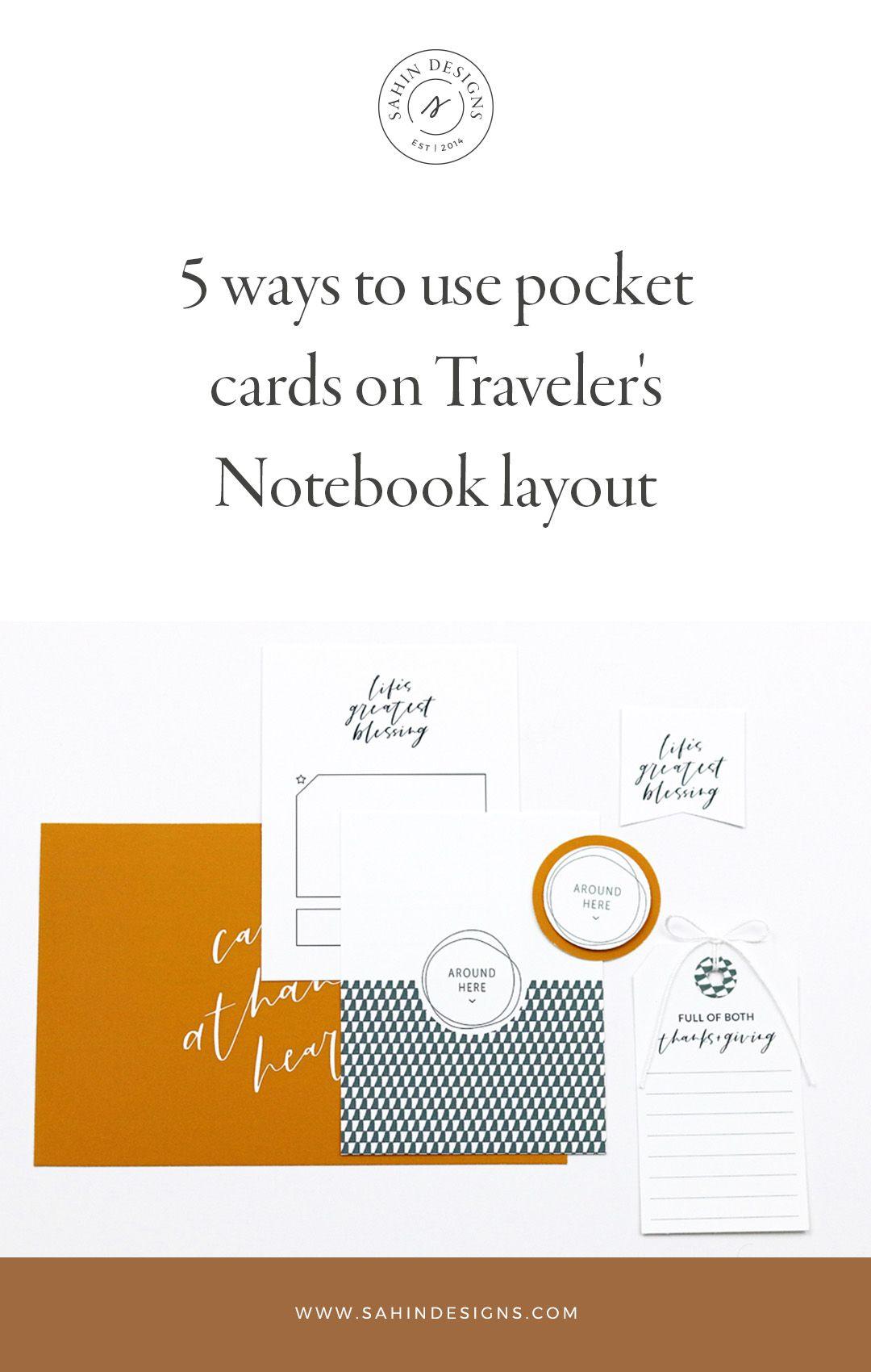 5 Ways To Use Pocket Cards On Traveler S Notebook Layout