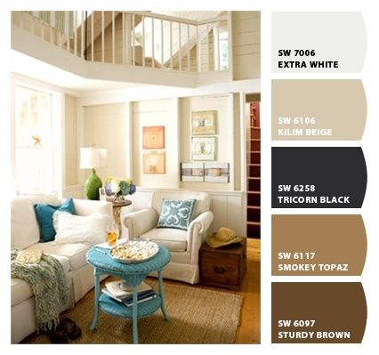 Warm Coastal Lounge. Paint Colors From Chip It! By Sherwin Williams