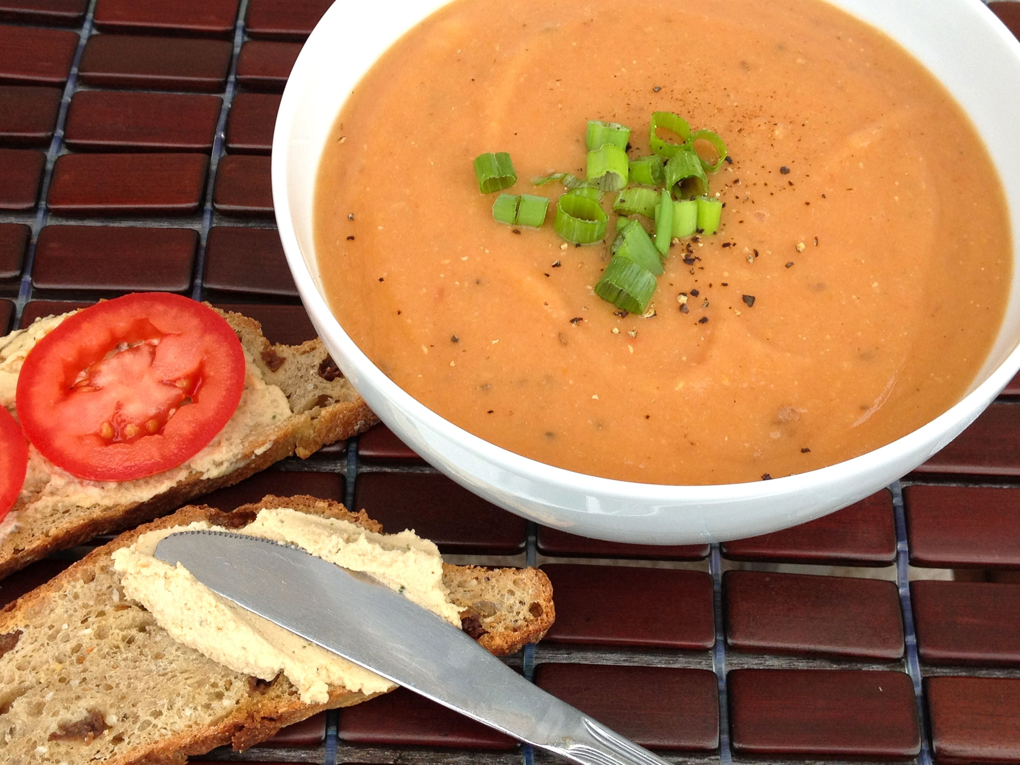 Tomato Lentil Soup with Cumin and Fresh Dill from the cookbook Let Them Eat Vegan