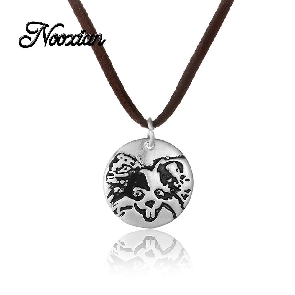 Signet mouse zodiac pendant necklace lettering engraved gift for