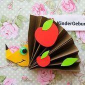Mit Kindern Igel aus Papier machen. DIY ★ basteln mit Kindern im Herbst für .... #herbstbastelnmitkindernfensterbilder