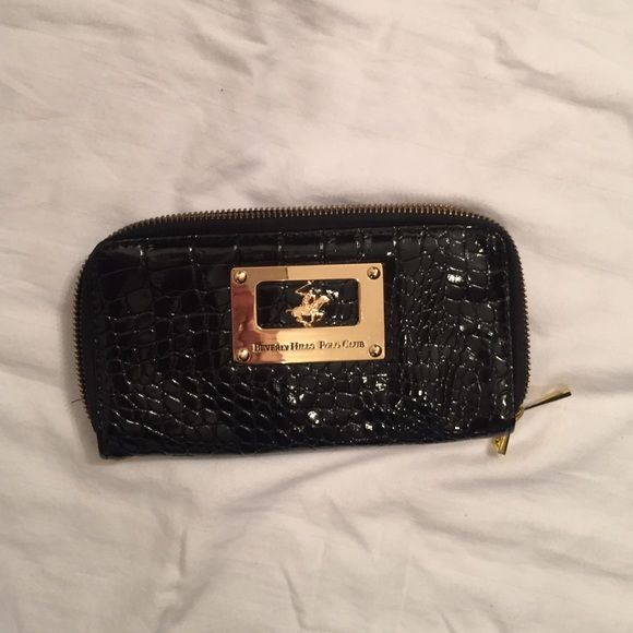 052843ab6d Ralph Lauren black patent wallet Clutch Textured patent