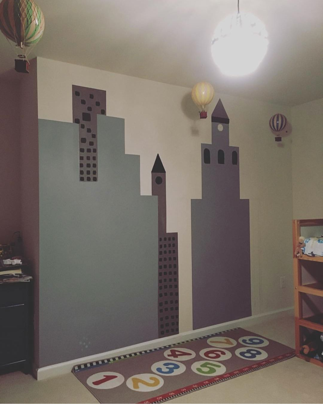 City mural big boy bedroom | My stuff | Big boy bedrooms, Boy room ...