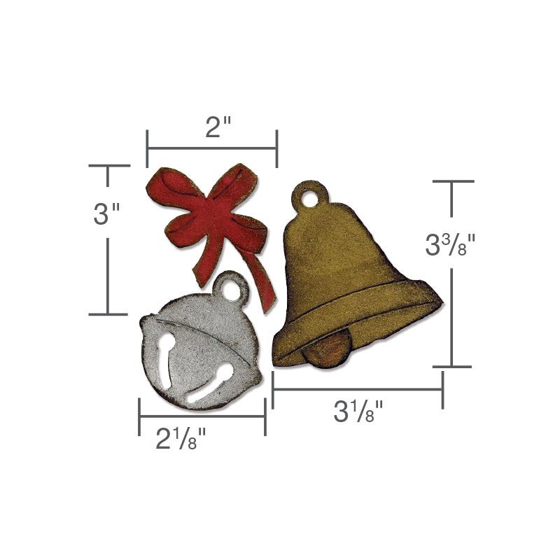 Sizzix - Tim Holtz - Alterations Collection - Bigz Die - Die Cutting Template - Christmas Bells at Scrapbook.com