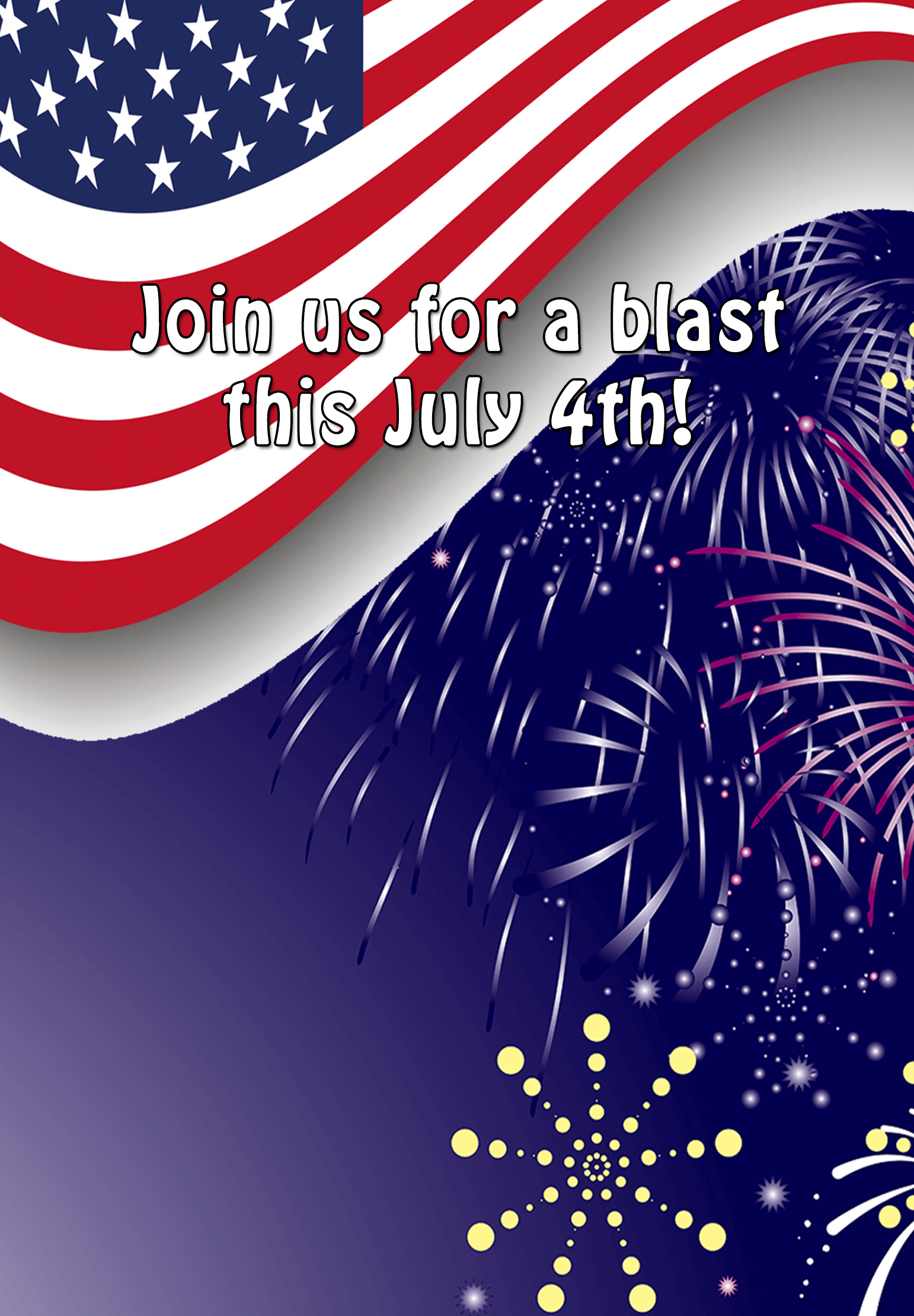 Join Us For A Blast Free Printable 4th Of July Invitation Template Greetings Island 4th Of July Images Free Party Invitation Templates Invitation Printing