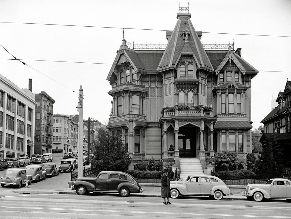 San francisco 1940 silas palmer house nw corner van for San francisco victorian houses history