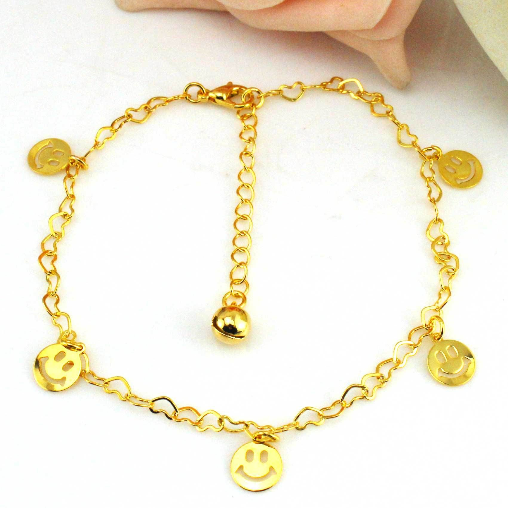 unique corazones design charms anklet heart products filled pie ankle de foot and bracelet gold women jewelry wrist evil set corazon pulso
