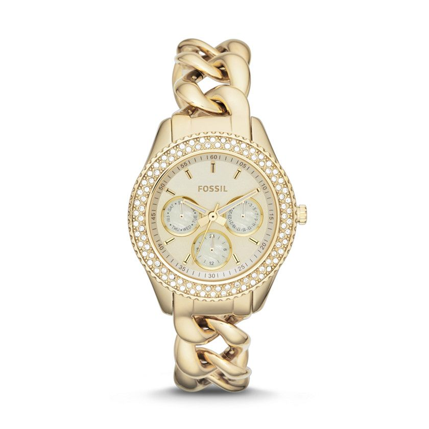 Fossil Stella Multifunction Stainless Steel Watch – Gold-Tone ES3499 | FOSSIL®