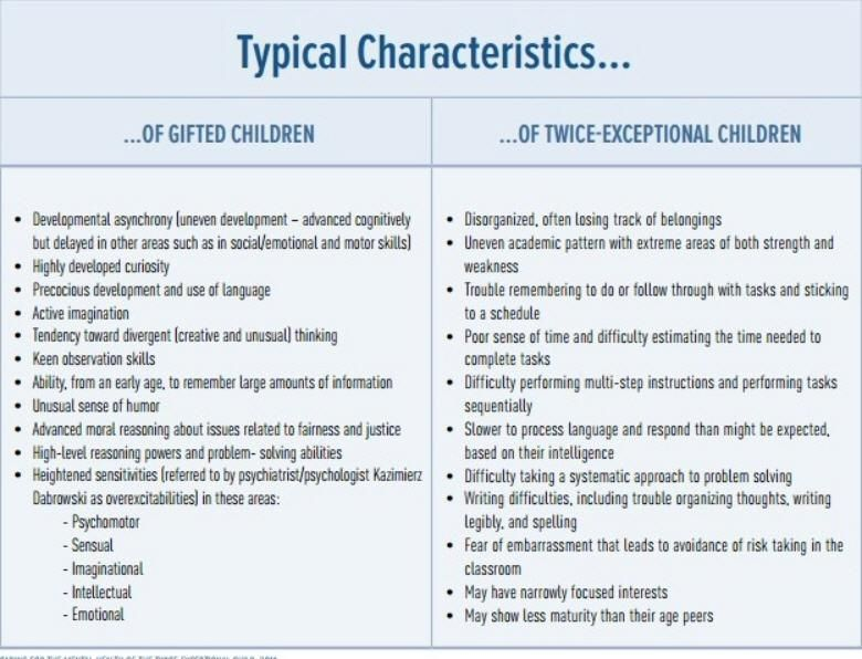 Twice Exceptional Learners Special >> Ontspecialneeds On Ec Gifted Kids Twice Exceptional Gifted
