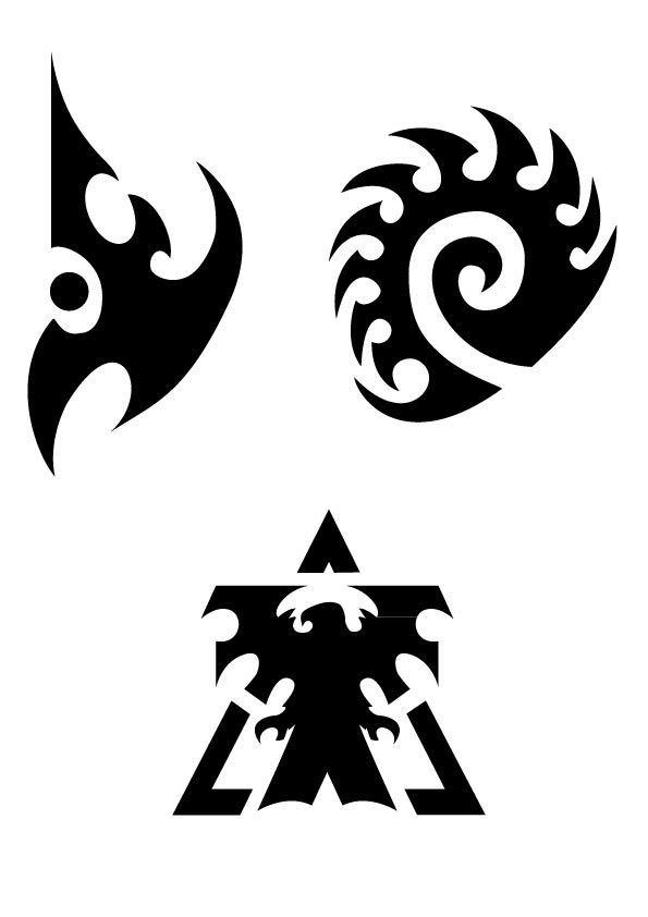 Starcraft Race Symbols Undecided Where On My Right Arm Tattoos
