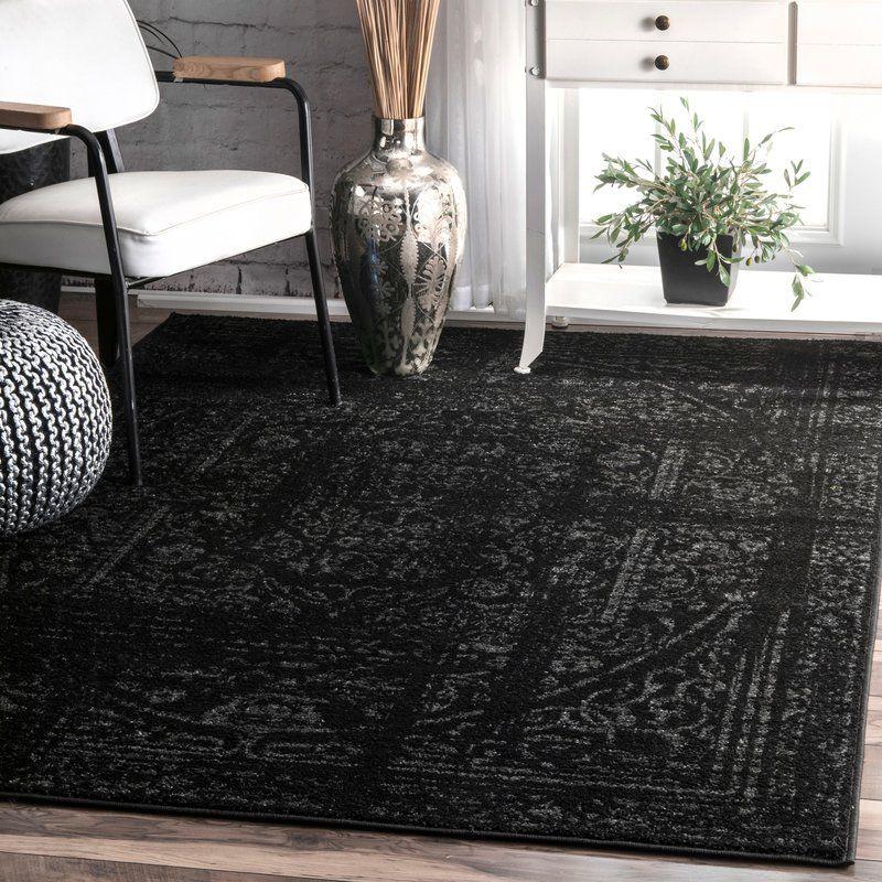 Bridport Oriental Black Area Rug Area rugs, Black rug