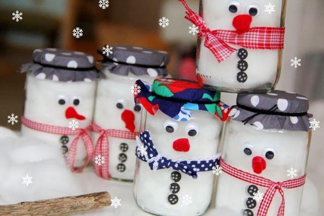 Windlichter Basteln Mit Kindern Weihnachten.Schneemann Im Glas Basteln Weihnachten Basteln Mit