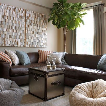 Cool Brown Leather Sectional With Pillows Ideas Brown Leather Unemploymentrelief Wooden Chair Designs For Living Room Unemploymentrelieforg