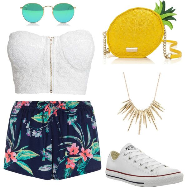 Summer Day by sarapineda301 on Polyvore featuring polyvore fashion style  NLY Trend Converse Kate Spade Alexis