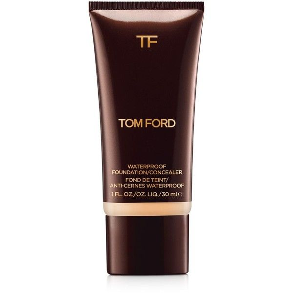 Tom Ford Waterproof Foundation/Concealer (255 BRL) ❤ liked on Polyvore featuring beauty products, makeup, face makeup, concealer, bisque, sienna, sable, natural, linen and ivory