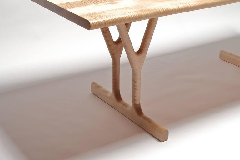 Slingshot Dining Table With Trestle Legs In Solid Maple With