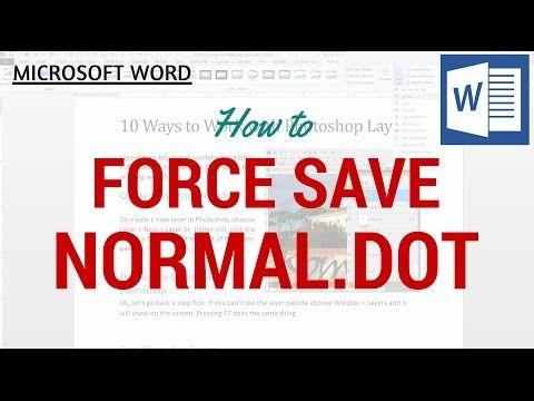 microsoft word normal dotm