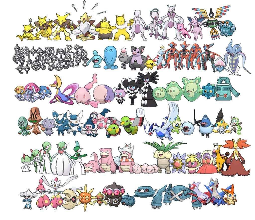 Psychic Type Pokemon Pokemon Type Pokemon Pokemon Drawings