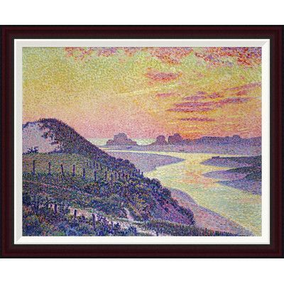 Global Gallery Sunset at Ambleteuse, Pas De Calais by Theo Van Rysselberghe Framed Painting Print Size: