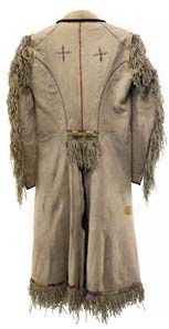 Robert Campbell moved to the United States and eventually became a fur trapper. This is his buckskin coat, ca. 1840.