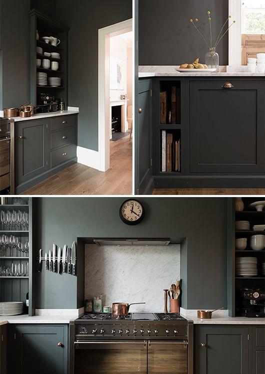 shaker kitchen painted flint in london home / sfgirlbybay