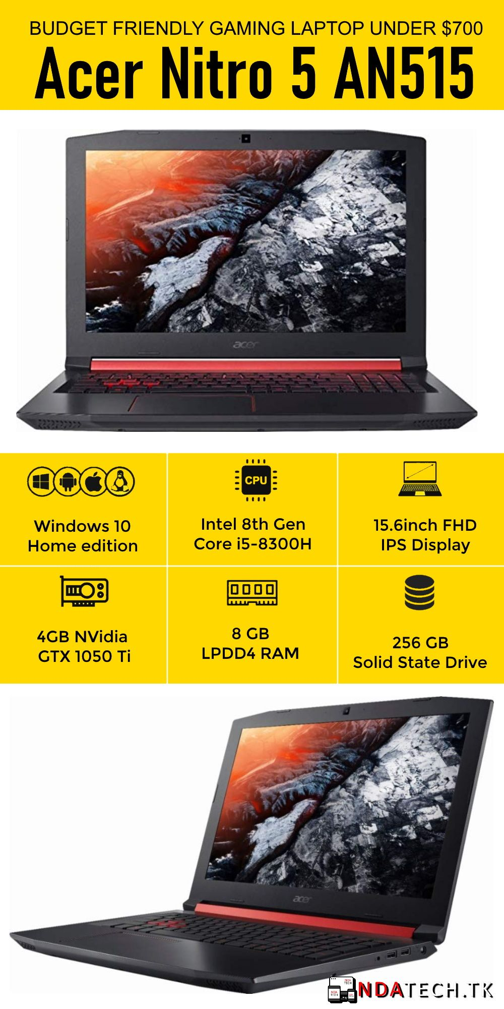 Acer Nitro 5 The 8th Gen Processor With Core I5 8300h 15 6inch