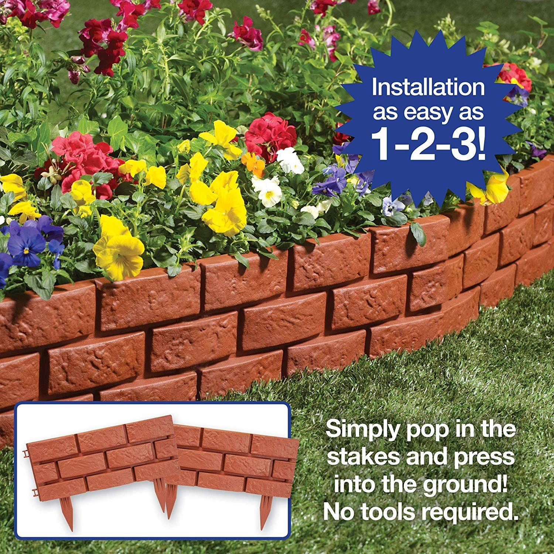 The Paragon Decorative Garden Fence Faux Brick Landscape 400 x 300