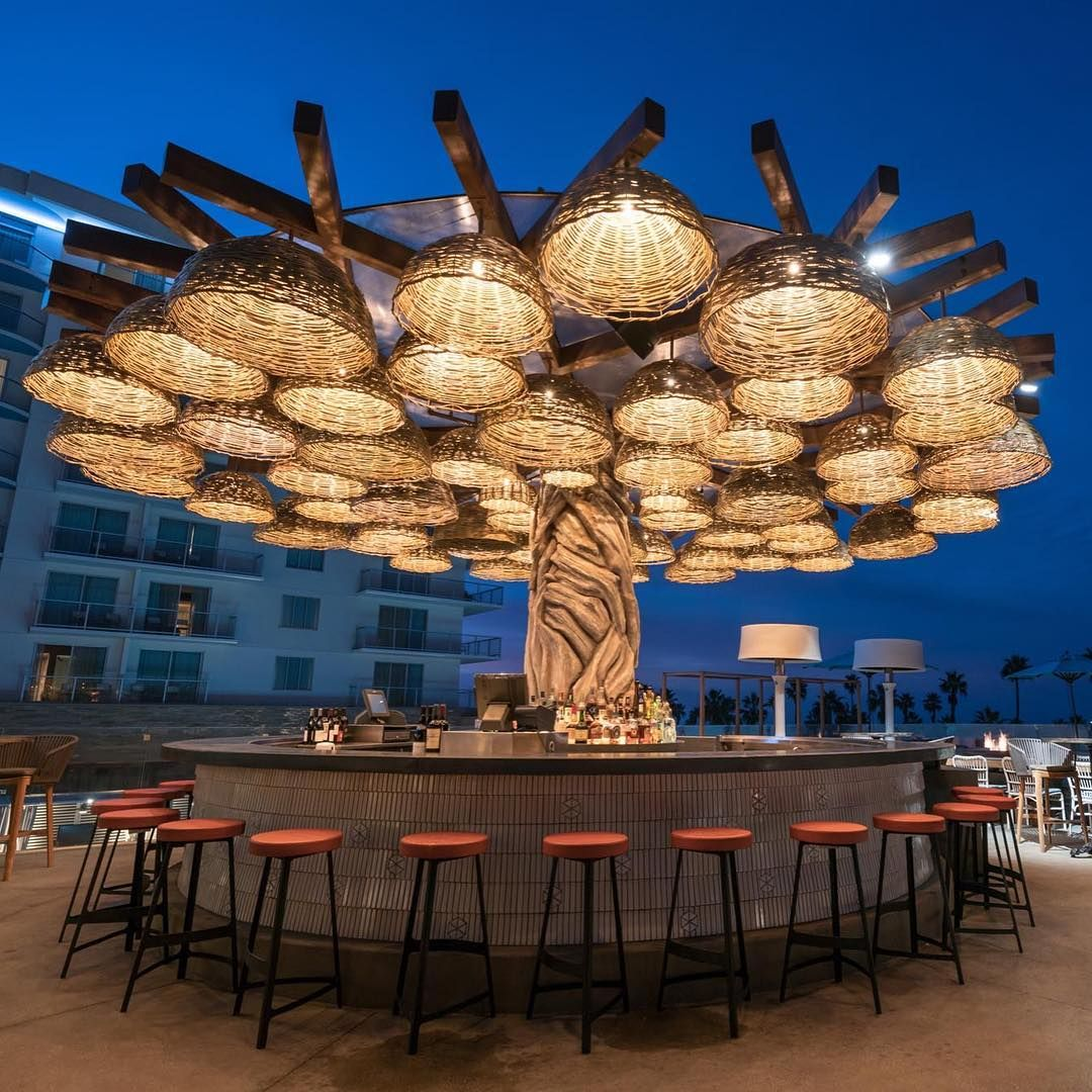Tree House Lounge By Hatch Design Group Garrett Neal Location Huntingtonbeac In 2020 Bar Design Restaurant Rooftop Restaurant Design Bar Design