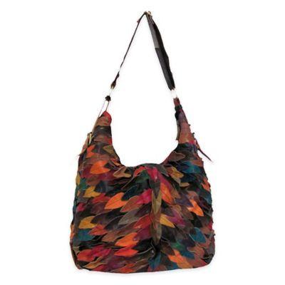 Zoe Leather Handbag/shoulder Bag In Rainbow