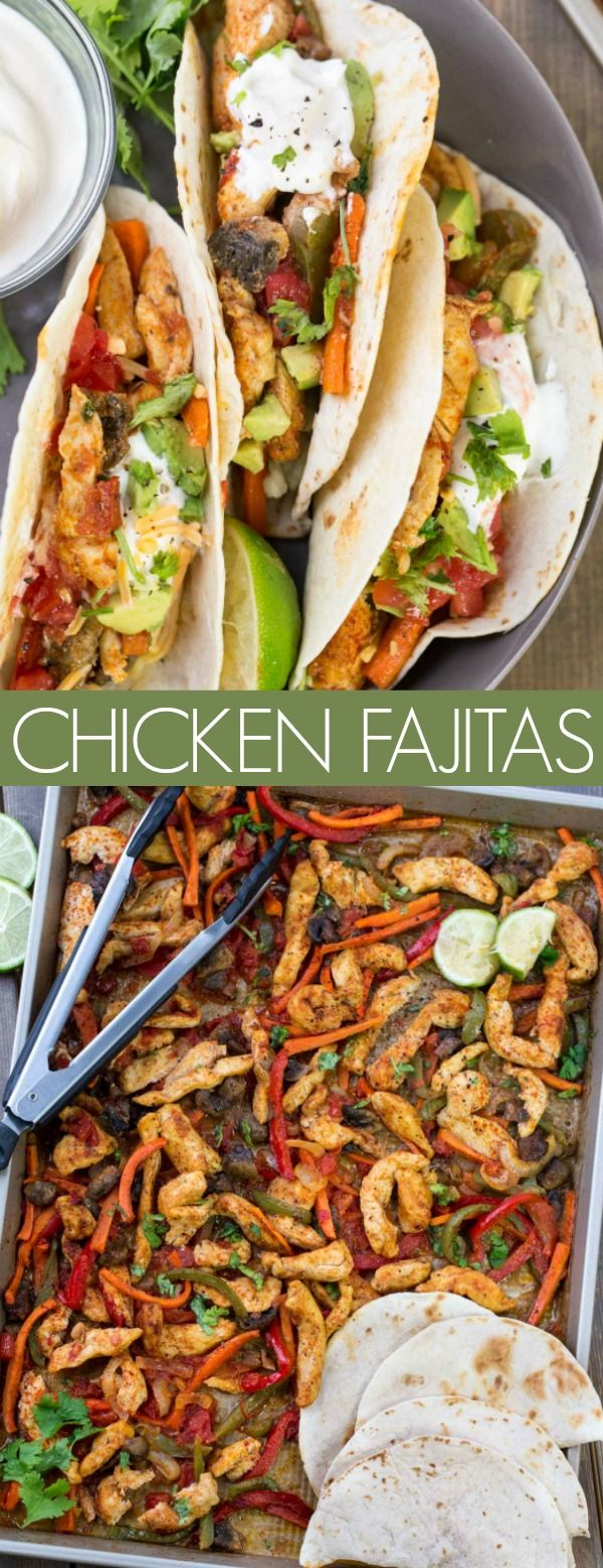 Baked Chicken Fajitas #recipeforchickenfajitas