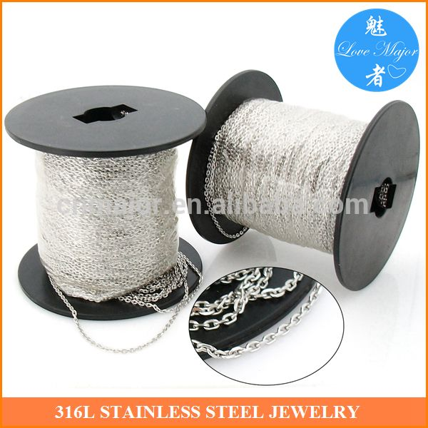 Check out this product on Alibaba.com App:Wholesale 316 stainless steel diamond-cut rolo chain in spool for fashion jewelry making https://m.alibaba.com/fqueem