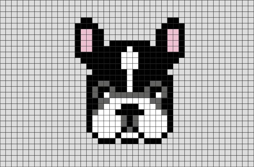 French Bulldog Pixel Art Clara Pixel Art Dessin Pixel