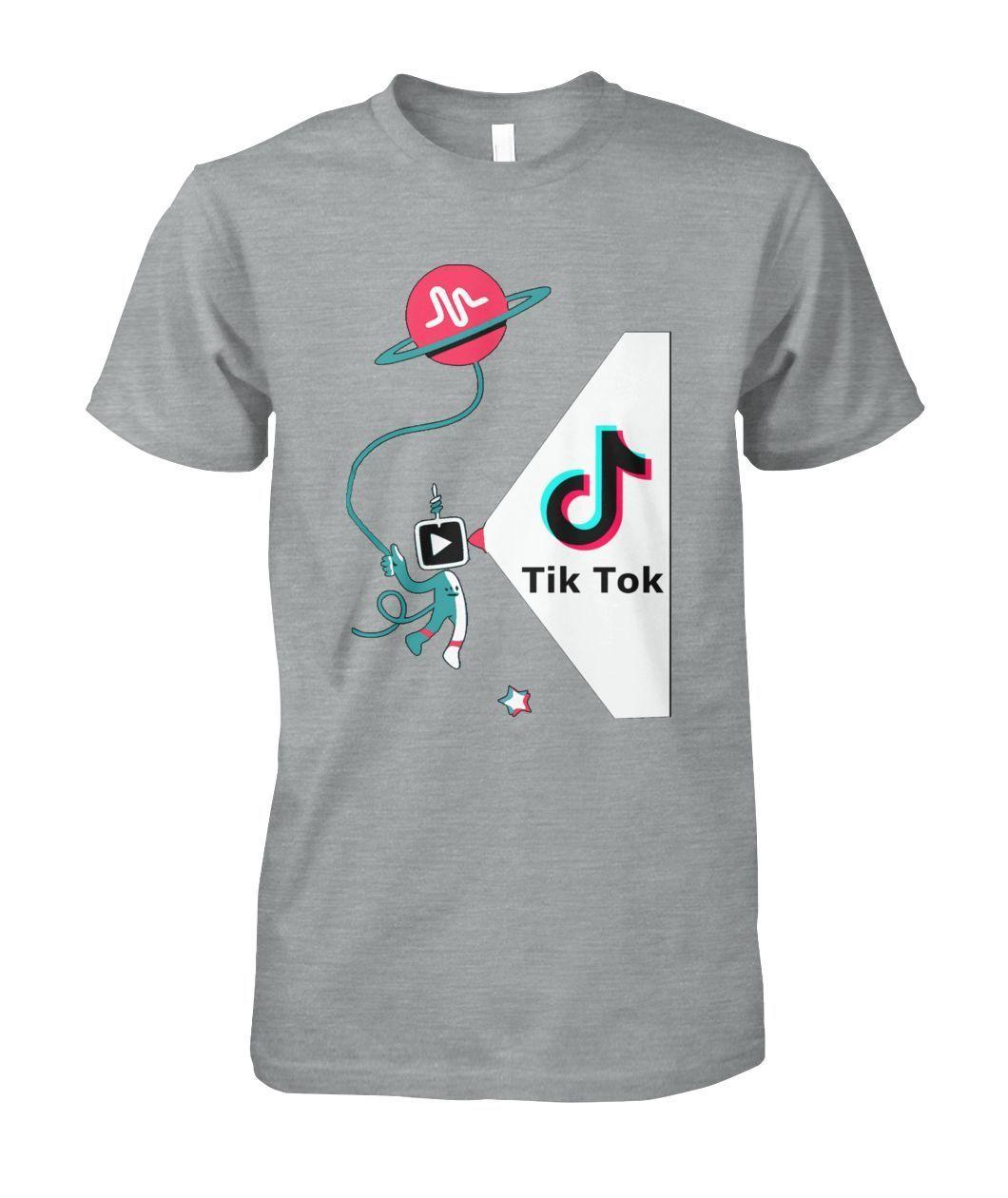 Tik Tok Musically Men Funny T Shirt.1045 Music T