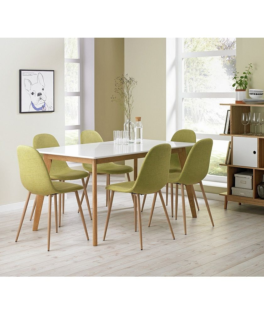 Buy Hygena Beni Dining Table And 6 Chairs  Green At Argoscouk Magnificent Dining Room Chairs Online Design Decoration