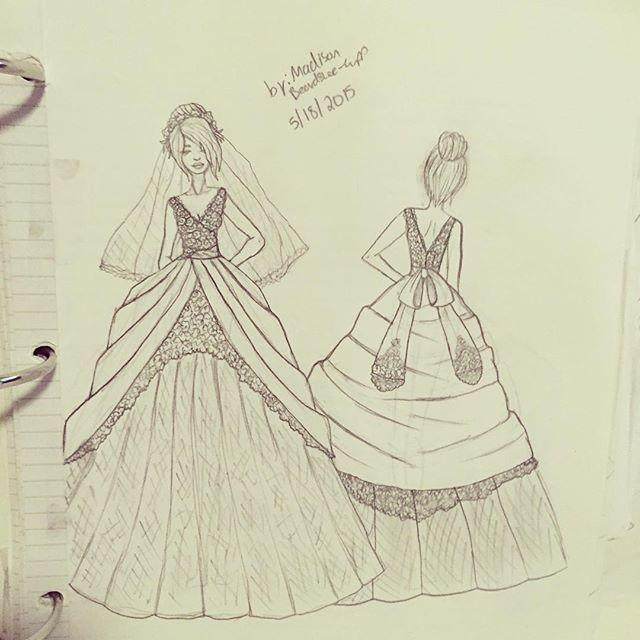 Redo design of mine #ballgown #weddingdress #weddingdressdesign #fashionsketch #fashiondesign #fashion