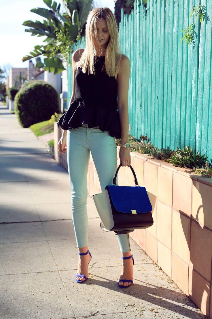 c50d667d3 El verde menta es un color precioso. ¡A mi me encanta! Y una de las prendas  donde más se hace presente este color es en los pantalones