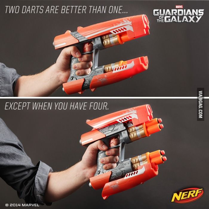 The new Nerf gun is cool