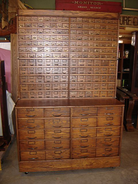 Early 1900 S Country Store 190 Drawer Bolt Or Seed Cabinet