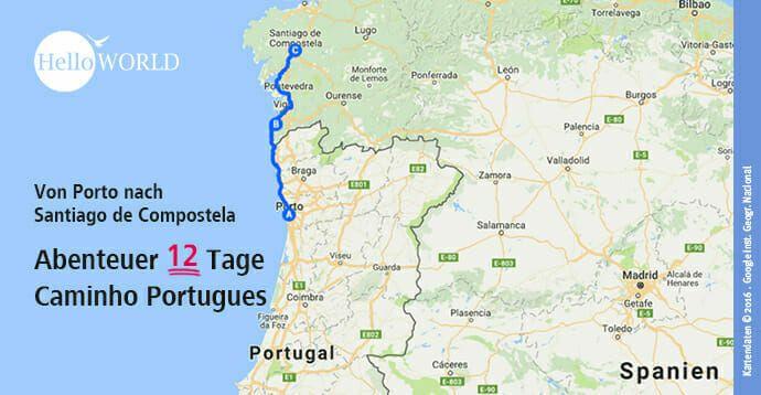 Camino Portugues Etappen Jakobsweg Jacobsweg