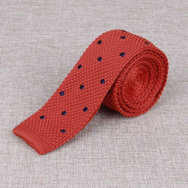 Mantieqingway Classic Polka Dot Knitted Neckties 19 Variants