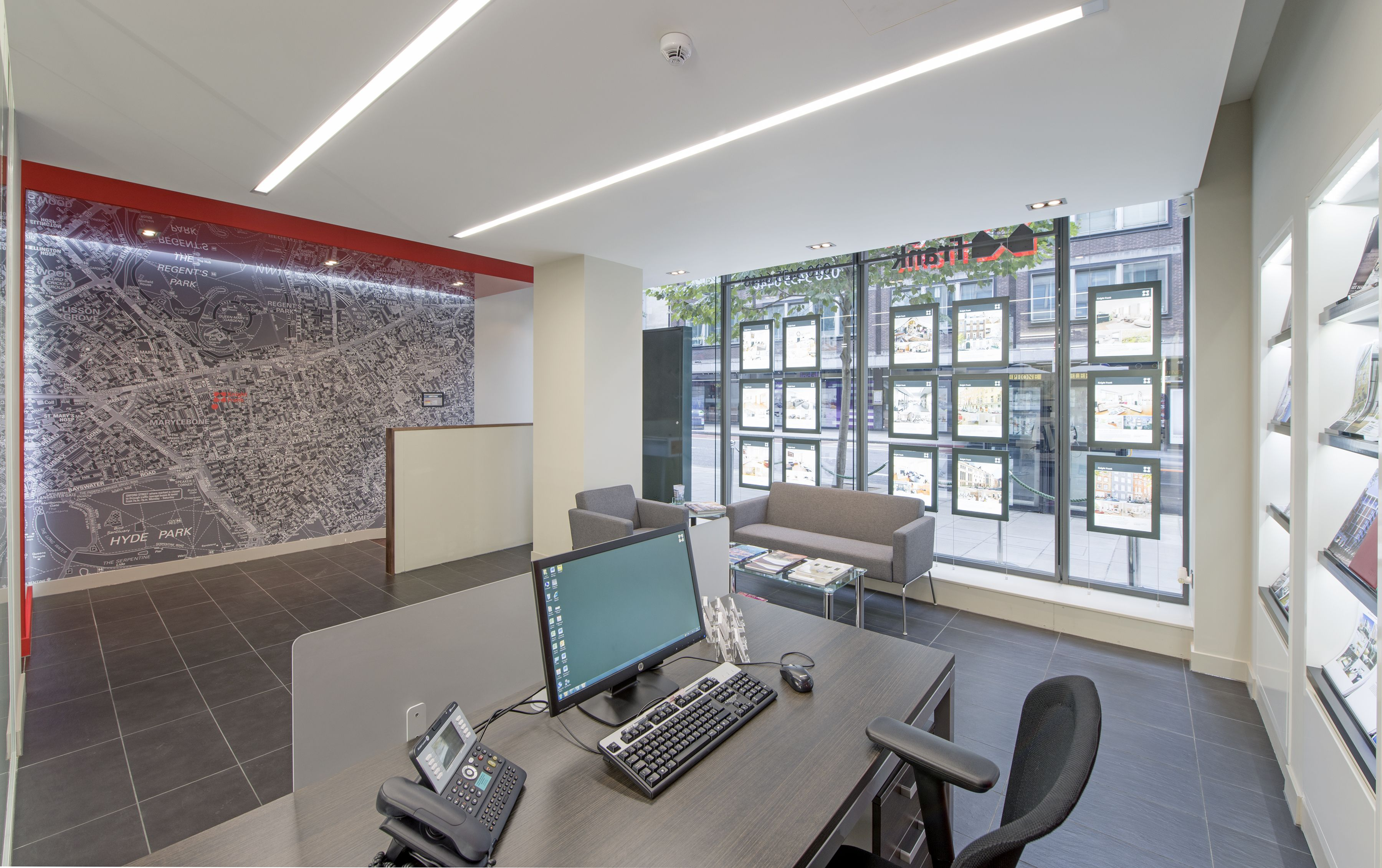 estate agent office design. Feature Map Wall At This London Estate Agents Agent Office Design