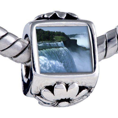 Pugster Silver Plated Photo Bead Travel Niagara Falls