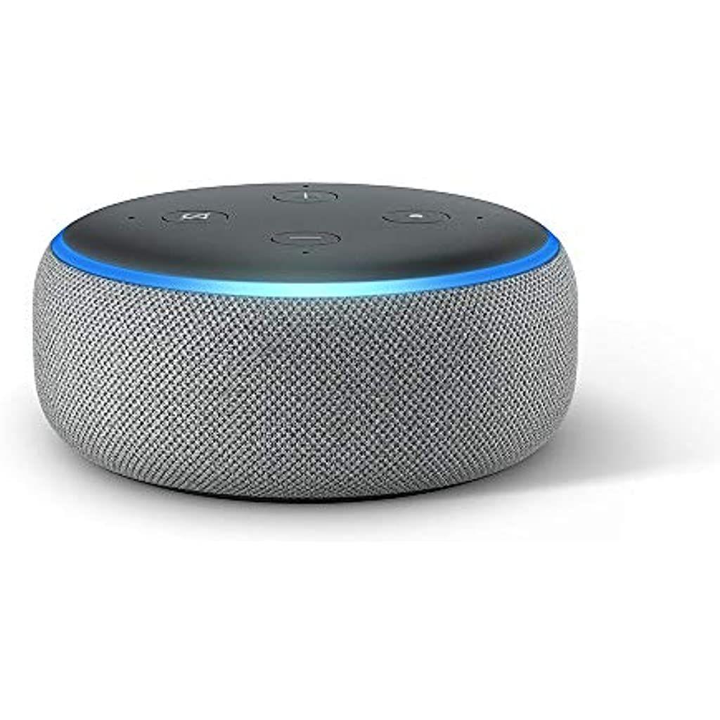 Echo Dot 3 Gen Intelligenter Lautsprecher Mit Alexa Hellgrau Stoff Elektronik Foto Kopfhorer Zubehor Kopfhorer Bluetooth Kopfhorer