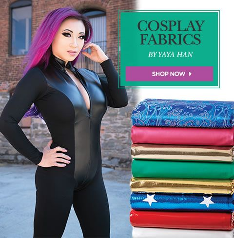 Cosplay Fabrics. Shop Now.