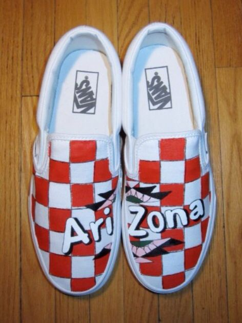 e9bf4e6c33c84 Red Arizona Tea Company Vans | Art in 2019 | Custom shoes, Shoes ...