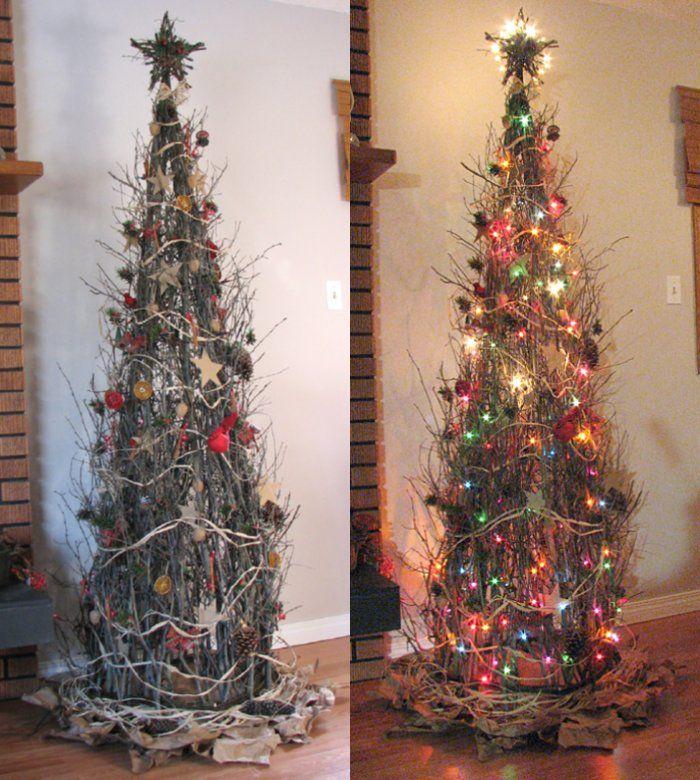 10 Creative Christmas Tree Making Hacks That You Can Do At Home Creative Christmas Trees Unique Christmas Trees Primitive Christmas Tree