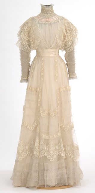White Lace Dress Made By Dressmaker Madame Rose H Boyd
